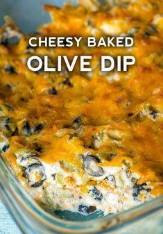 Cheesy Baked Olive Dip