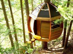 Egg-Shaped HemLoft Treehouse, Whistler #travel #ecodesign #architecture