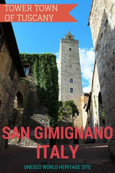 Explore the Medieval town of San Gimignano with its famous towers! Tuscany, Italy. A UNESCO Site. Read more: http://justinpluslauren.com/discover-tuscany-with-florencetown