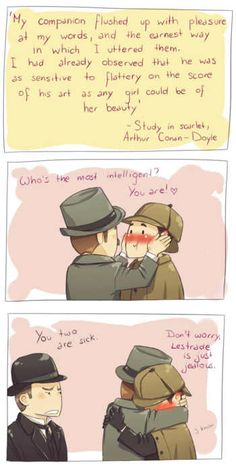 This is cute - not an argument for Johnlock, but really cute. And in my opinion anyone who can't relate to Sherlock in that moment has had a pretty nice life.