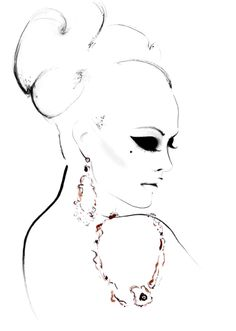 """Golden Girl"" fashion illustration by Kornelia Debosz"