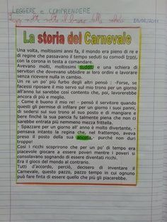 Attività sul Carnevale – Classe terza Vintage School, Learning Italian, Teaching Activities, Teaching Materials, Problem Solving, Coding, Snoopy, Columns, Type
