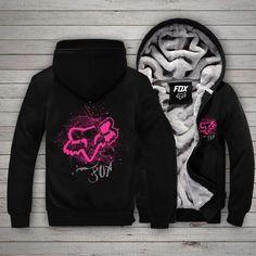Pink Fox, Fox Print, Time 7, Cold Day, Fleece Hoodie, Keep Warm, Hoodies, Sweatshirts, Zip Ups