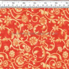 SALE 2.99 PER YARD Orange Batik Quilting Fabric, Quilters Cotton, Cotton Fabric