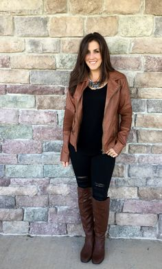fall outfit brown le