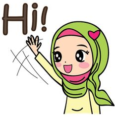 check out the Jihab - Muslim Style Stickers - (EN) sticker by Sanook Stickers on chatsticker.com Cute Drawings Of Love, Candy Background, Powerpoint Background Design, Eid Greetings, Islamic Cartoon, Anime Muslim, Hijab Cartoon, Emoji Wallpaper, Line Sticker
