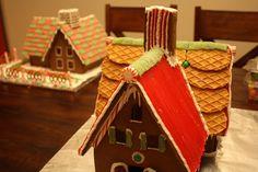 Homemade gingerbread houses