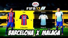 Fifa17 Barcelona  X  Málaga Campeonato Espanhol(Dublado Pt-Br)HD-1080P