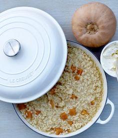 #receta #risotto #recipe #blog #samanthavallejo #lecreuset #cacerola #castiron #calabaza #pumpkin