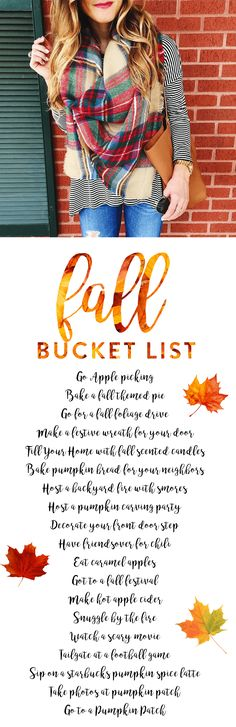 sharing my Fall bucket list on the blog in honor of the first day of fall!   fall things to do, autumn bucket list, things to do in fall, fun fall activities