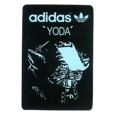 #1641 Yoda Star Wars adidas Originals, Height 7 cm decal sticker - DecalStar.com
