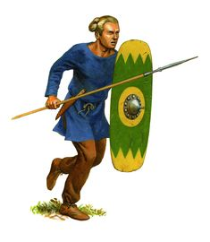 [research] Celtic Tribes-German infantryman of the army of Ariovistus 58 BC Iron Age, Germanic Tribes, Roman Era, Bone Carving, Dark Ages, Museum Collection, Barbarian, Roman Empire, British Museum