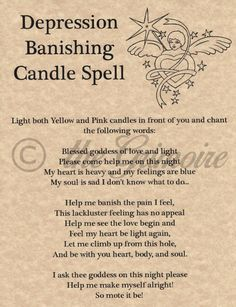 Depression Banishing Candle Spell, Book of Shadows Page, BOS Pages, Witchcraft in Collectibles, Religion & Spirituality, Wicca & Paganism | eBay