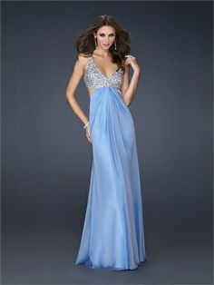 Sexy Deep V-neck with Sequins Open Back Floor Length Chiffon Homecoming Dress HD1488 www.homecomingstore.com $185.0000