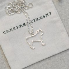 I am a crazy pug lady...but this is too cute to pass up!! Sterling Silver Pug Necklace
