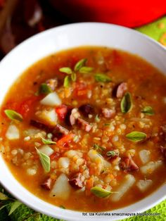 zupa-z-czerwona-soczewica Health Eating, Healthy Recipes, Healthy Meals, Chili, Cooking, Dinner Ideas, Mad, Diet, Fotografia