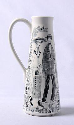 Arabia/Emilia Finland, Fancy, Ceramics, Fresh, Mugs, Tableware, Vintage, Design, Decor