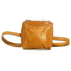 b50c4fc4af88 Leather Fanny Pack Vintage 1980s Brown Hip Pouch with Adjustable Waist Strap  Hipster Preppy Boho Club Kid Small Bag