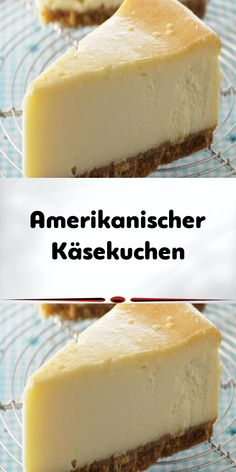 American Cheesecake-Amerikanischer Käsekuchen American cheesecake – or American cheesecake – does not come straight from the oven to the table, but is left in the refrigerator after cooling overnight. So it's the perfect summer cake! Healthy Vegan Desserts, Easy Desserts, Delicious Desserts, Pear Dessert, Summer Dessert Recipes, Easy Cookie Recipes, Baking Recipes, American Cheesecake, Mellow Yellow