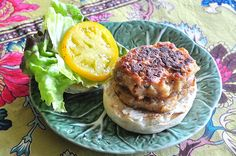 """Vegan White Bean and Rosemary Burger    I love this recipe. I double it for 4. It is really easy and quick to put together. It is also a great thing to put in the 1st grader's lunch. I have enjoyed them served on bread with vegenaise and tomato and spinach and plated with an """"aioli"""" type dip. The 1st grader likes hers with ketchup. I think maybe they are little dry straight. I use only a tiny amount of oil when I """"fry"""" mine though."""