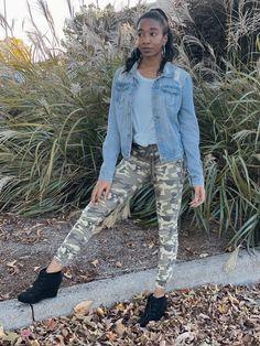 4 Ways I Style my Camo Pants | Pink Glitter Life