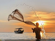 Fisherman from National Geographic Traveler Photo Contest 2013