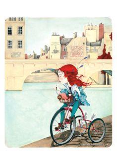 Linna - children book illustration by Leonie Merle Flöttmann (Leo la Douce)