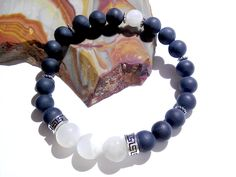 Moonstone Magic, Jasper Bracelet, Stretch Bracelet, Metaphysical Jewelry, Yoga Bracelet, Pagan jewelry, Unisex Gift, Healing Jewelry, Wiccan by MoonMajickStudio on Etsy
