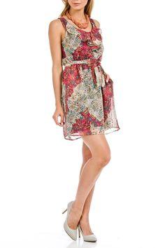 Lola - Florentina Dress in Fuchsia Print