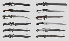 Anime Weapons, Sci Fi Weapons, Weapon Concept Art, Weapons Guns, Fantasy Sword, Fantasy Weapons, Fantasy Art, Design Reference, Art Reference