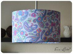 Lampenschirme - Lampenschirm Paisley hellbau - ein Designerstück von Hilgemann bei DaWanda