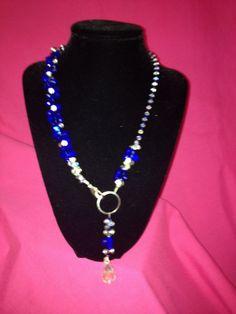 Crystal blue persuasion by SassyGirlJewelrycom on Etsy, $55.00