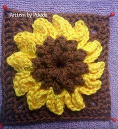Sunflower Granny  | Sunflower and Sunflower Granny Square Pattern $1.40