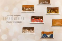 I am in lovewith #Sseko's new line of clutches!!  :) <3  They are all just so pretty!