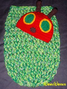 The Very Hungry Caterpillar beanie and cocoon set $45