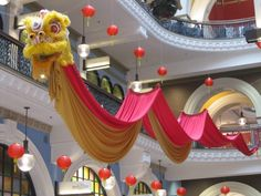 hanging chinese dragon decorations   Queen Victoria Building, Chinese New Year (Theme Day: Animals)
