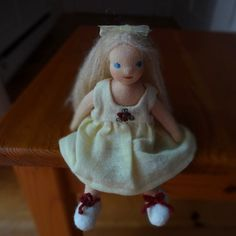 Your place to buy and sell all things handmade Dollhouse Dolls, Wool Sweaters, Blue Eyes, Hand Embroidery, Blond, Lamb, Super Cute, Christmas Ornaments, Holiday Decor