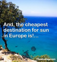 What is the cheapest destination in to fly to for sunshine?It's an important question! Find out here. Cheap Beach Vacations, Top Destinations, Weather Conditions, Us Travel, Travel Inspiration, Sunshine, Told You So, Europe, This Or That Questions
