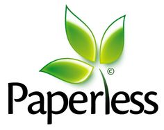 To manufacture 10 pounds of paper, 7.7 pounds of carbon dioxide is pumped into the environment — that's 6.2 billion pounds of CO2 in one year. Let's go paperless
