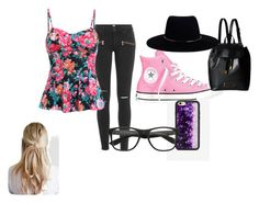 """""""Style savvy"""" by stylesavvy-6789 ❤ liked on Polyvore featuring Paige Denim, Converse, Marc by Marc Jacobs, Wildflower, Zimmermann and girly"""