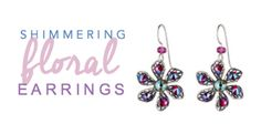 Shimmering sapphire & fuchsia crystals combine to create these must have earrings! Designed with Swarovski crystals' newest innovation, Shimmer Effect, these will be your go-to fashion accessory all season long. Diy Crochet Owl, Crochet Unicorn, Free Crochet, Wire Wrapped Jewelry, Beaded Jewelry, Wrought Iron Wall Art, Daisy Bracelet, Mosaic Flowers, Zipper Bags