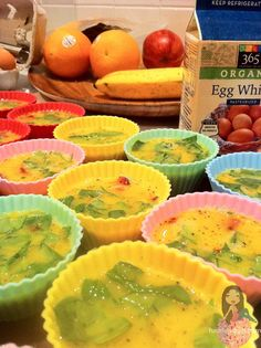 Egg Muffins are quick and delicious!  I love, love, love making these.  They can be frozen to reheat later in the week when you are in a hurry.