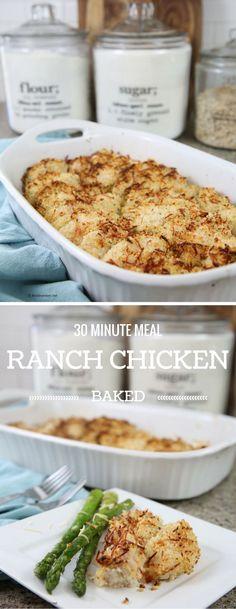 Recipes-Easy Dinner Ideas  Baked Ranch Chicken Recipe