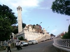 Birla Mandir at Hyderabad - built in white marbles, on a hilly area.