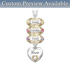 145 best grandmother necklace with birthstones images on pinterest my family my joy birthstone necklace with names aloadofball Images