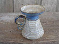 Scandinavian Vintage Pottery 3.5 Small Ceramic by OLaLaVintage