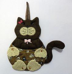 Lixinho de carro gatinho (ou porta correspondência)