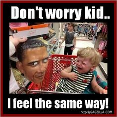Scary Obama with kid
