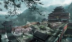 korean landscape concept art - Google Search