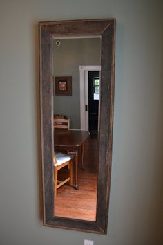 63 X21 Reclaimed Wood Full Length Mirror Dimensions Include Frame